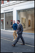 TOBY CLARKE; CHRISTIAN LEVETT,, Exhibition of work by Matthew Burrows. Vigo Gallery, Dering St. London. 12 March 2014.