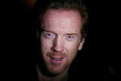 Damian Lewis launches the celebrations, which included a light display, to mark the fiftieth anniversary of the Acland Burghley School in Camden, London.