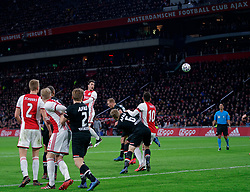 Nicolás Tagliafico #31 of Ajax in action during the Dutch Eredivisie match round 25 between Ajax Amsterdam and AZ Alkmaar at the Johan Cruijff Arena on March 01, 2020 in Amsterdam, Netherlands