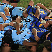 Players pack the scrum down during the Super 14 match between the Waratahs and the Western Force at the Sydney Football Stadium, Sydney, Australia on April 18, 2009.  Photo Tim Clayton