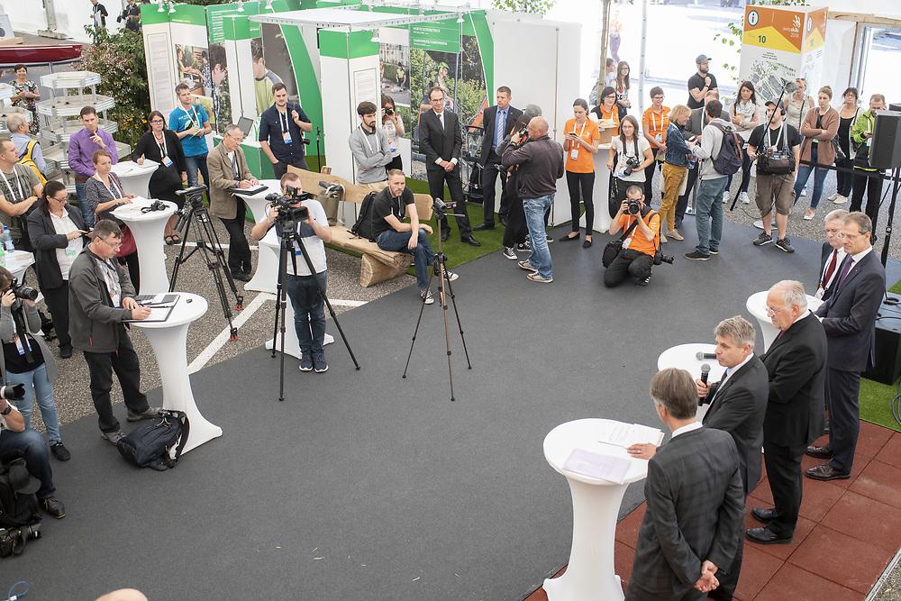 12. September 2018; Bern; swiss skills 2018  - Bundesrat Johann N. Schneider-Ammann anlaesslich der Eroeffnungsmedienkonferenz der SwissSkills 2018  (Michael Zanghellini)