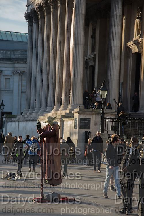Entertainers, Trafalgar Sq. London. 9 December 2015