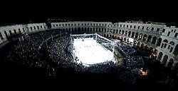 14.09.2012, Amphitheater, Pula, CRO, EBEL, Ice Fever, KHL Medvescak Zagreb vs HDD Olimpija Ljubljana, 03. Runde, im Bild Uebersicht der Esiflaeche mit dem Amphitheater Pula // during the Erste Bank Icehockey League 03rd Round match betweeen KHL Medvescak Zagreb and HDD Olimpija Ljubljana at the Amphitheater, Pula, Croatia on 2012/09/14. EXPA Pictures © 2012, PhotoCredit: EXPA/ Pixsell/ Zeljko Lukunic ***** ATTENTION - OUT OF CRO, SRB, MAZ, BIH and POL *****