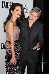 May 15, 2019 - London, United Kingdom - Amal Clooney and George Clooney attend the Catch 22 - TV Series premiere at the Vue Westfield, Westfield Shopping Centre, Shepherds Bush (Credit Image: © Keith Mayhew/SOPA Images via ZUMA Wire)