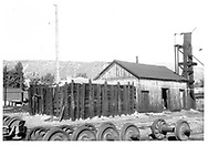 D&RGW Durango sandhouse with its raw sand bin and sanding tower.<br /> D&RGW  Durango, CO
