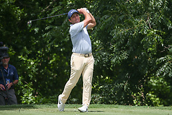 May 23, 2019 - Forth Worth, TX, U.S. - FORTH WORTH, TX - MAY 23: Francesco Molinari (ITA) hits from the 6th tee during the first round of the Charles Schwab Challenge on May 23, 2019 at Colonial Country Club in Fort Worth, TX. (Photo by George Walker/Icon Sportswire) (Credit Image: © George Walker/Icon SMI via ZUMA Press)