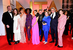 (left to right) Owen Teale, Malin Buska, Elarica Gallacher, Tanya Moodie, Teresa Palmer, Greg McHugh, Deborah Harkness and guest attending the National Television Awards 2019 held at the O2 Arena, London. PRESS ASSOCIATION PHOTO. Picture date: Tuesday January 22, 2019. See PA story SHOWBIZ NTAs. Photo credit should read: Ian West/PA Wire