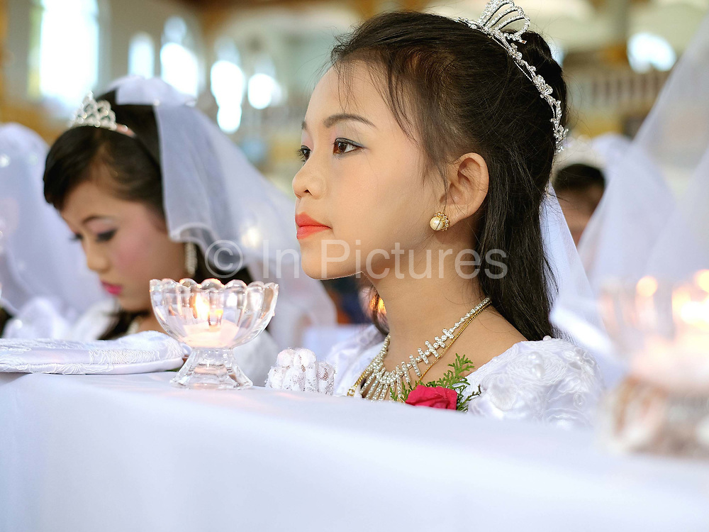 First Communion and Extraordinary Jubilee of Mercy at Christ the King Cathedral, Loikaw, Kayah State, Myanmar on 20th November 2016