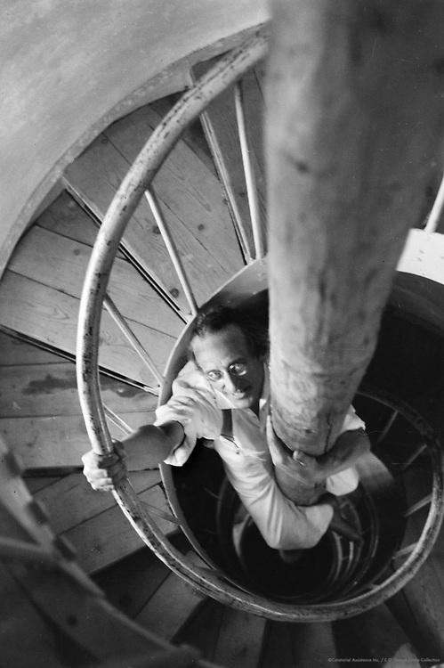 Grasmaier in Circular Stairway, Salzburg, Austria, 1933