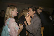DAISY PRINCE AND  INDIA MAHDAVI, Amy Sacco. American nightclub promoter. Book launch party for 'Cocktails' Sanderson Hotel, Berners Street, London,10 July 2006. ONE TIME USE ONLY - DO NOT ARCHIVE  © Copyright Photograph by Dafydd Jones 66 Stockwell Park Rd. London SW9 0DA Tel 020 7733 0108 www.dafjones.com