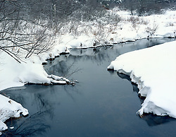 Stream in winter, Chesham, New Hampshire.