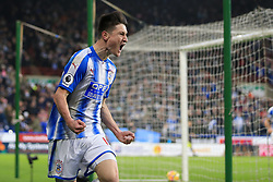 13th January 2018 - Premier League - Huddersfield Town v West Ham United - Joe Lolley of Huddersfield celebrates after scoring their 1st goal - Photo: Simon Stacpoole / Offside.