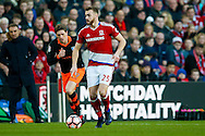 Middlesbrough defender, on loan from Arsenal, Calum Chambers (25) on a run  during the The FA Cup match between Middlesbrough and Sheffield Wednesday at the Riverside Stadium, Middlesbrough, England on 8 January 2017. Photo by Simon Davies.