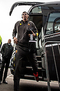 Goalkeeper Costel Pantilimon of Watford arrives during the FA Cup match at The Den, London<br /> Picture by Liam McAvoy/Focus Images Ltd 07413 543156<br /> 29/01/2017