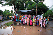 Families from the Nehru Palli slum in Cuttack get legal advice and birth certificates from a Legal Aid Clinic run by the organisation CLAP. Committee for Legal Aid to Poor (CLAP), helps provide legal aid to the poorer communities in the Orissa district of India.