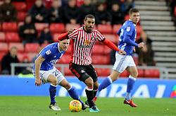 Sunderland's Lewis Grabban and Birmingham City's Michael Morrison
