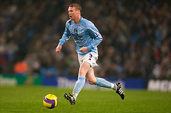 MANCHESTER, ENGLAND - Monday, February 25, 2008: Manchester City's Michael Ball in action against Everton during the Premiership match at the City of Manchester Stadium. (Photo by David Rawcliffe/Propaganda)