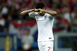 Jesse Lingard of England during the 2018 FIFA World Cup Russia Semi Final match between Croatia and England at the Luzhniki Stadium on July 01, 2018 in Moscow, Russia