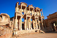Photo of The library of Celsus. Images of the Roman ruins of Ephasus, Turkey. Stock Picture & Photo art prints 6 .<br /> <br /> If you prefer to buy from our ALAMY PHOTO LIBRARY  Collection visit : https://www.alamy.com/portfolio/paul-williams-funkystock/ephesus-celsus-library-turkey.html<br /> <br /> Visit our TURKEY PHOTO COLLECTIONS for more photos to download or buy as wall art prints https://funkystock.photoshelter.com/gallery-collection/3f-Pictures-of-Turkey-Turkey-Photos-Images-Fotos/C0000U.hJWkZxAbg