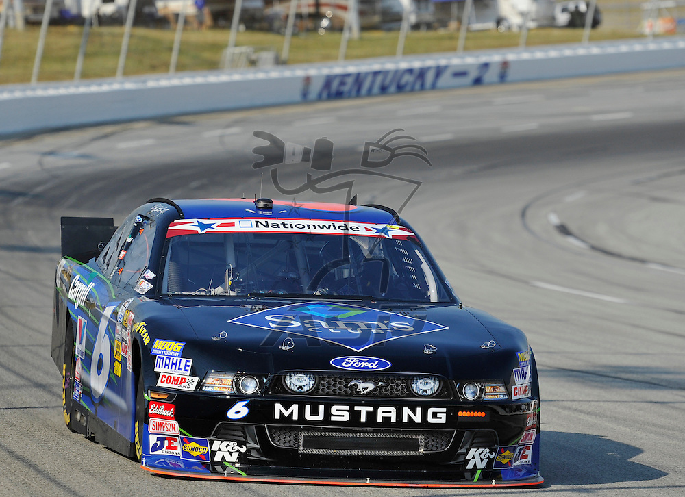 Sparta, KY - JUN 29, 2012: Ricky Stenhouse, Jr. (6) during the final practice for the Feed the Children 300 at the Kentucky Speedway in Sparta, KY.