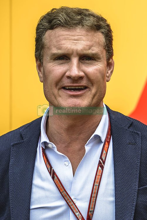 May 13, 2018 - Barcelona, Catalonia, Spain - Former British Formula One driver DAVID COULTHARD walks through the paddock prior the Spanish GP at Circuit de Barcelona - Catalunya (Credit Image: © Matthias Oesterle via ZUMA Wire)
