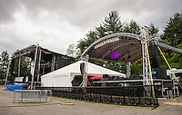The stages were set but attendance did not reach expectations for Laconia Fest.    (Karen Bobotas/for the Laconia Daily Sun)