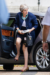 © Licensed to London News Pictures. 10/09/2018. London, UK. Prime Minister Theresa May arrives at Downing Street. Photo credit: Rob Pinney/LNP