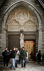Patrons exit the Memling Museum in Sint-Jan Hospital, where six captivating works by Hans Memling adorn a small chapel (Mariastraat 38 ; 32-50-44-87-71 ; museabrugge.be ). (Photo © Jock Fistick)