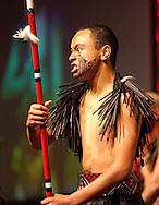 A local Kapa Haka group perform at the 2010 Ahuwhenua Trophy  Bank of New Zealand Maori Excellence in Farming competition awards dinner held at the Taupo Event Centre, Taupo. Friday 28 May 2010.<br /> <br /> ***FREE FOR EDITORIAL USE***<br /> <br /> PHOTO COURTESY: ahuwhenuatrophy.co.nz
