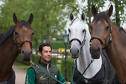 At home with Kamal Bahamdan (KSA) and Noblesse des Tess, Cezanne, Delphi<br /> Tops Stables - Valkenswaard 2012<br /> © Dirk Caremans