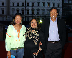 Multi millionaire LAKSHMI MITTAL and his wife USHA and daughter VANISHA BHATIA at the opening party for Diamonds - a new exhibition at The Natural History Museum, London in association with De Beers held on 6th July 2005.<br />