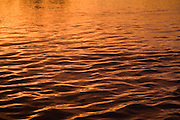 Ripples on water at sunset