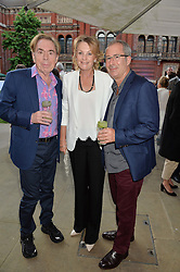 Left to right, LORD & LADY ANDREW LLOYD WEBBER and BEN ELTON at the V&A Summer Party in association with Harrod's held at The V&A Museum, London on 22nd June 2016.