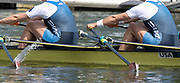 Poznan, POLAND, 21st June 2019, Friday, Morning Heats, USA. W2X -/2 (b) O'LEARY Meghan and (s) TOMEK Ellen, FISA World Rowing Cup II, Malta Lake Course, © Peter SPURRIER/Intersport Images,<br /> <br /> 10:37:03