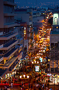 Costa Rica, San Jose, Pedestrian Walkway, Central Avenue, Dusk