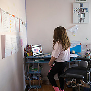 Brooklyn was required to watch the livestream of the Biden Inauguration as part of her virtual schoolwork on January 20, 2021.