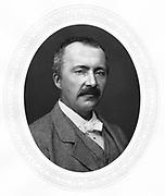 Heinrich Schliemann (1822-1890) German archaeologist. Excavations at Mycenae and Troy. Photograph 1877. Woodburytype.