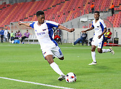 Buyani Sali of Chippa United during the 2016 Premier Soccer League match between Chippa United and Bleomfontein Celtic held at the Nelson Mandela Bay Stadium in Port Elizabeth, South Africa on the 25th October 2016<br /><br />Photo by:   Richard Huggard / Real Time Images