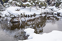 Yoki-en Garden at Neputa Mura or Neputa Village was built during the Meiji Period by Nakamura Sanjiro.  It is noted for its black pines, wooden bridge and  stone lanterns. The garden was built between 1880 and 1914 with methods unique to the Tsugaru District.  The garden is a designated cultural property of the Japanese government.