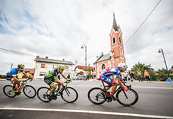 Nik Cemazar of Slovenija National Team, Martin Haring of Dukla Banska Bystrica and Jon Bozic of Adria Mobil Cycling Team during 1st Stage of 25th Tour de Slovenie 2018 cycling race between Lendava and Murska Sobota (159 km), on June 13, 2018 in  Slovenia. Photo by Vid Ponikvar / Sportida