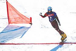 Julia Dujmovits (AUT) during parallel giant slalom FIS Snowboard Alpine world championships 2021 on 1st of March 2021 on Rogla, Slovenia, Slovenia. Photo by Grega Valancic / Sportida