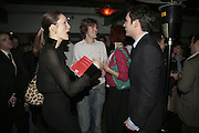 Plum Sykes, Josh Sykes and Tom Sykes,  Book launch for ' What Did I Do last night' by Tom Sykes. Century Club. Shaftesbury Ave. London. 16 January 2006. -DO NOT ARCHIVE-© Copyright Photograph by Dafydd Jones. 248 Clapham Rd. London SW9 0PZ. Tel 0207 820 0771. www.dafjones.com.