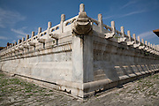 Corner of the three-tier marble terrace leading to the Hall of Preserving Harmony in the Forbidden City. (Built from 1406 to 1420). Beijing, China, 2007