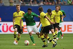 Football: Liga Total Cup 2012, BVB Borussia Dortmund - SV Werder Bremen, Hamburg, 05.08.2012.Mehmet Ekici (Werder, M.).©Êpixathlon