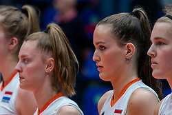 Jette Kuipers of Netherlands, Marije ten Brinke of Netherlands in action during United States - Netherlands, FIVB U20 Women's World Championship on July 15, 2021 in Rotterdam