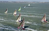 Seiling. Volvo Ocean race 2001/2002. <br />Åttende etappe. La Rochelle, Frankrike-Gøteborg, Sverige. 25.05.2002.<br />Foto: Daniel Forster, Digitalsport