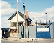 Old amateur photos of Dublin streets churches, cars, lanes, roads, shops schools, hospitals January 1992 Sherrif Street rail Freaight yard, signal box level crossing,