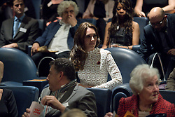 The Duchess of Cambridge, Patron of Action on Addiction, sits in the cinema room at Working Titles Office in London to view highlights of the Recovery Street Film Festival.