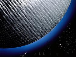 Fiberglass planet with stars