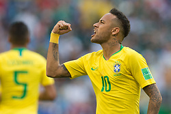 July 2, 2018 - Samara, Russia - Neymar (BRA) during the 2018 FIFA World Cup Russia Round of 16 match between 1st Group E and 2nd Group F at Samara Arena on July 2, 2018 in Samara, Russia. (Credit Image: © Foto Olimpik/NurPhoto via ZUMA Press)